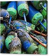 Lobster Buoys Canvas Print
