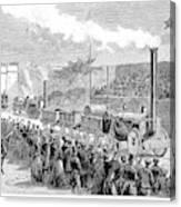 Locomotive Rocket, 1829 Canvas Print
