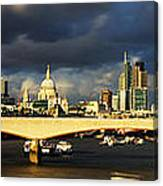 London  Skyline Waterloo  Bridge Canvas Print