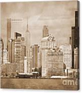 Manhattan Buildings Vintage Canvas Print