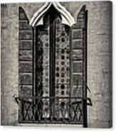 Old World Window Canvas Print