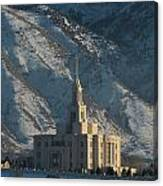 Payson Utah Temple In January 2014 Canvas Print