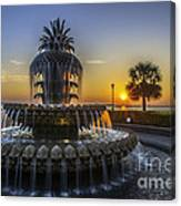 Sun Rays Over Waterfront Park Canvas Print