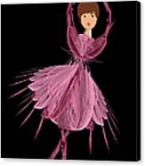 6 Pink Ballerina Canvas Print