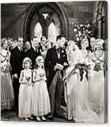 Silent Film Still: Wedding Canvas Print