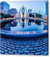 St. Louis Downtown Skyline Buildings At Night Canvas Print