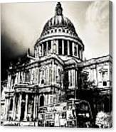 St Pauls Cathedral London Art Canvas Print