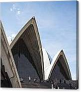 Sydney Opera House Detail In Australia  Canvas Print
