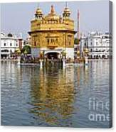 The Golden Temple At Amritsar India Canvas Print