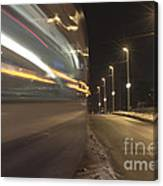 Tram At Night Canvas Print