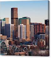 Usa, Colorado, Denver, City View Canvas Print