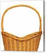 Wicker Basket Number Seven Canvas Print