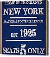 New York Giants Canvas Print