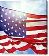 American Flag 55 Canvas Print