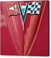 63 Corvette Emblem Canvas Print