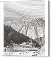 Desolation Sound Quiet Anchorage     Canvas Print