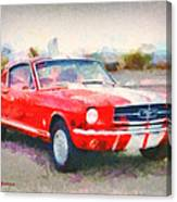 66 Mustang Gt 350 Canvas Print