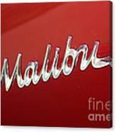 67 Malibu Chevelle Logo -0058 Canvas Print