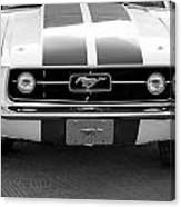 67 Mustang Front In Black Canvas Print