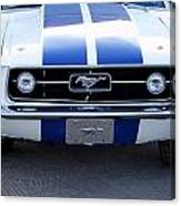 67 Mustang Grill Canvas Print