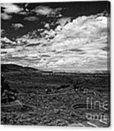 672 Sl Bw Tuzigoot 3  Canvas Print