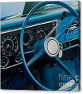 68 Chevy Truck Dash Canvas Print