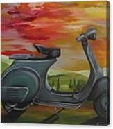 '68 Vespa Piaggio In Its Natural Environment Canvas Print
