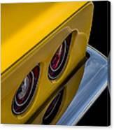 '69 Corvette Tail Lights Canvas Print