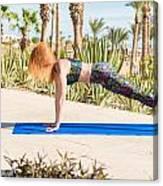 Woman Doing Yoga Canvas Print