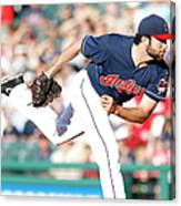 Boston Red Sox V Cleveland Indians Canvas Print