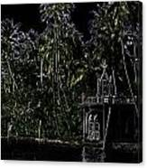 Church Located Next To A Canal Canvas Print