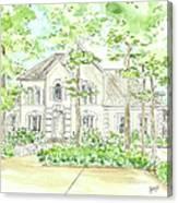 Custom House Portrait  Or Rendering Sample Canvas Print