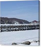 Frozen Northport Dock Canvas Print