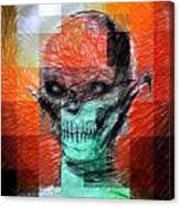 Halloween Mask Canvas Print