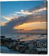 Sc Lowcountry Sunset Canvas Print