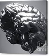 Metallic Brain Canvas Print