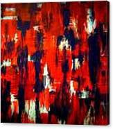 Modern Abstract Painting Original Canvas Art Shadow People By Zee Clark Canvas Print