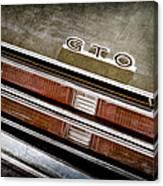 1969 Pontiac Gto Taillight Emblem -0475a Canvas Print