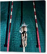 Professional Swimmer Canvas Print