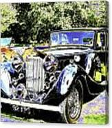 Psychedelic Classic Lagonda Canvas Print