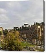 Ruins In The Roman Forum Rome Italy Canvas Print
