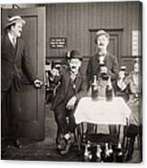 Silent Film Still: Drinking Canvas Print