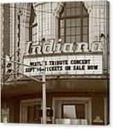 Terre Haute - Indiana Theater Canvas Print
