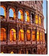 The Majestic Coliseum - Rome Canvas Print