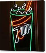 7 Up Sign Canvas Print