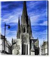 View Of Episcopal Cathedral In Edinburgh Canvas Print