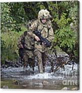 Welsh Guards Training Canvas Print