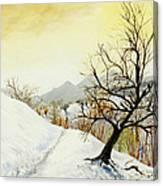 70 Km North Of Sofia Canvas Print