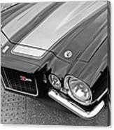 71 Camaro Z28 In Black And White Canvas Print