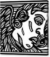 Sumler Angel Cherub Black And White Canvas Print